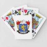 Escudo de la familia del gremio baraja de cartas