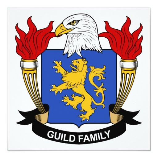 """Escudo de la familia del gremio invitación 5.25"""" x 5.25"""""""