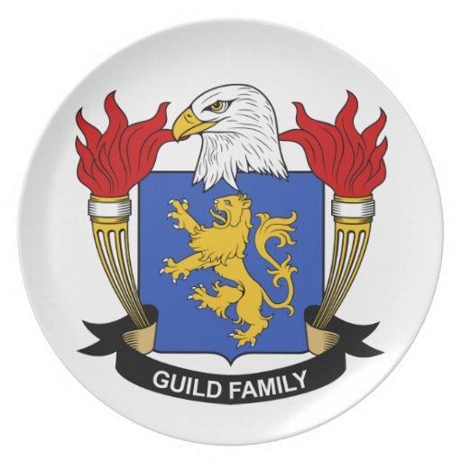 Escudo de la familia del gremio plato