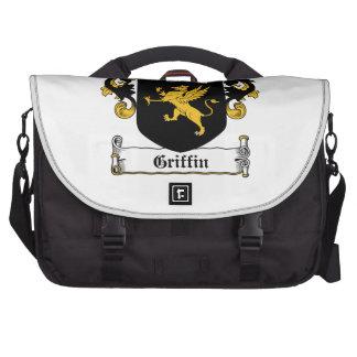 Escudo de la familia del grifo bolsas para portátil