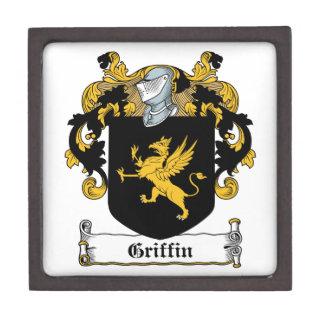 Escudo de la familia del grifo cajas de joyas de calidad