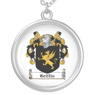 Escudo de la familia del grifo pendiente personalizado