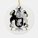 Escudo de la familia del grifo ornamento para reyes magos