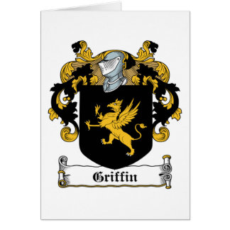 Escudo de la familia del grifo felicitación
