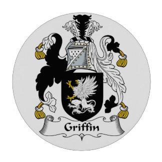 Escudo de la familia del grifo fichas de póquer