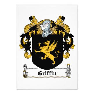 Escudo de la familia del grifo invitaciones personales