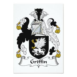 """Escudo de la familia del grifo invitación 5"""" x 7"""""""