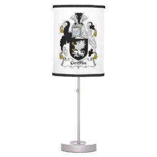 Escudo de la familia del grifo lámpara de mesa