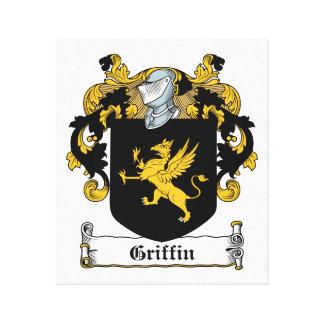 Escudo de la familia del grifo impresión en lienzo estirada
