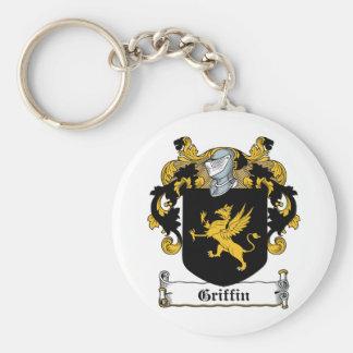 Escudo de la familia del grifo llaveros