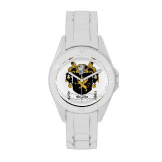Escudo de la familia del grifo relojes