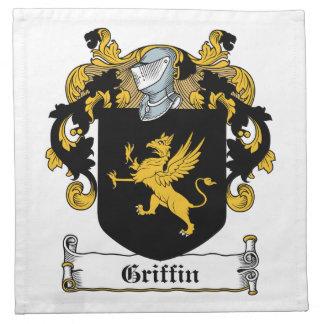 Escudo de la familia del grifo servilletas