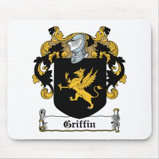 Escudo de la familia del grifo alfombrillas de ratones