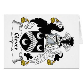 Escudo de la familia del guantero tarjeta