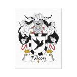 Escudo de la familia del halcón lienzo envuelto para galerias