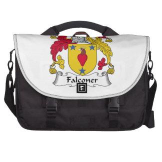 Escudo de la familia del halconero bolsas para portátil