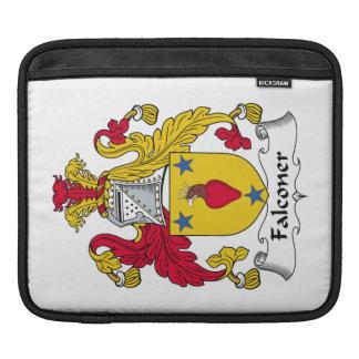 Escudo de la familia del halconero funda para iPads