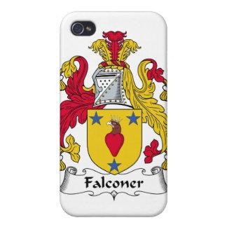 Escudo de la familia del halconero iPhone 4 protector