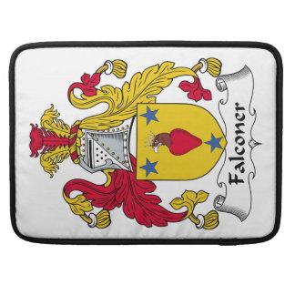 Escudo de la familia del halconero funda macbook pro