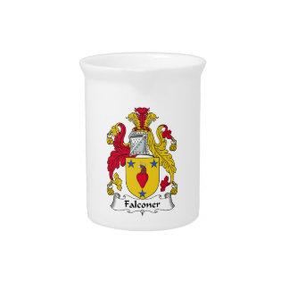 Escudo de la familia del halconero jarra