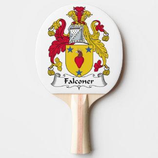 Escudo de la familia del halconero pala de tenis de mesa