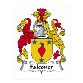 Escudo de la familia del halconero postal