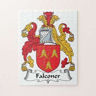 Escudo de la familia del halconero puzzles