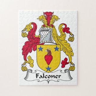 Escudo de la familia del halconero puzzle
