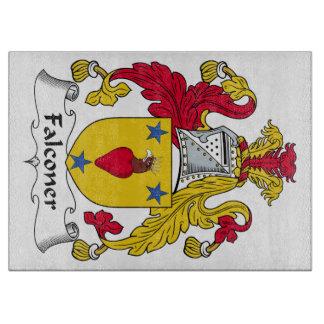 Escudo de la familia del halconero tablas de cortar