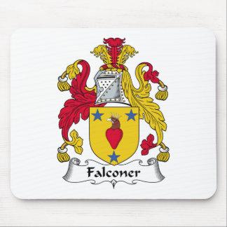 Escudo de la familia del halconero alfombrilla de raton
