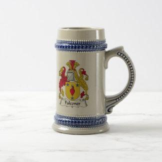 Escudo de la familia del halconero taza de café