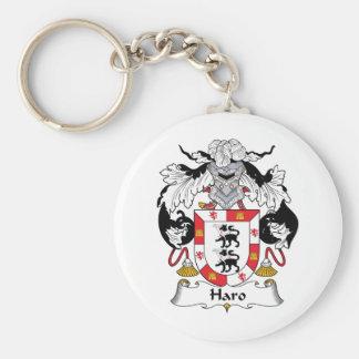 Escudo de la familia del Haro Llavero Redondo Tipo Pin