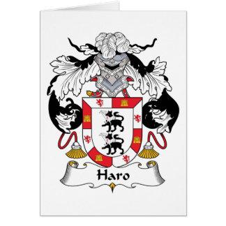 Escudo de la familia del Haro Tarjeta De Felicitación