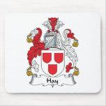Escudo de la familia del heno alfombrilla de raton