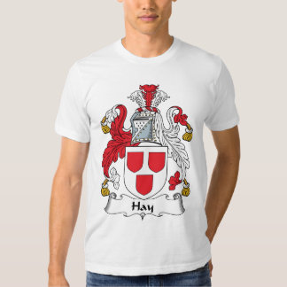 Escudo de la familia del heno playeras
