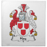 Escudo de la familia del heno servilleta
