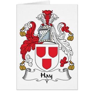 Escudo de la familia del heno tarjeta de felicitación