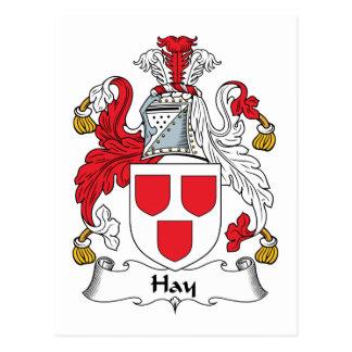Escudo de la familia del heno tarjeta postal