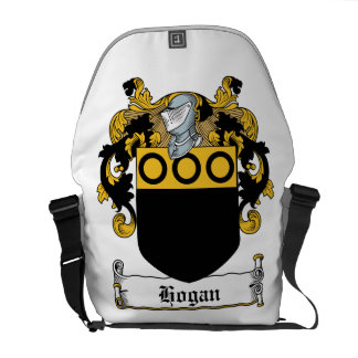 Escudo de la familia del Hogan Bolsa De Mensajería