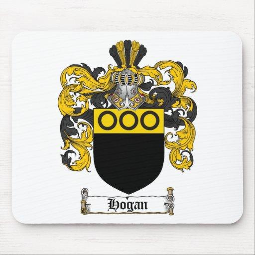 ESCUDO DE LA FAMILIA DEL HOGAN - ESCUDO DE ARMAS D TAPETE DE RATÓN