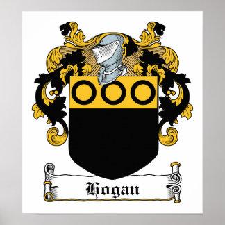 Escudo de la familia del Hogan Impresiones