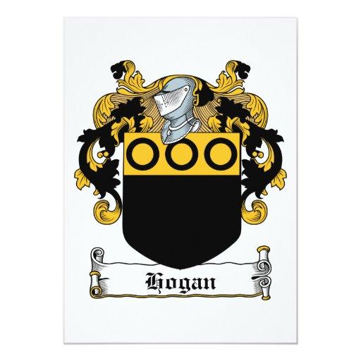 Escudo de la familia del Hogan Invitación 12,7 X 17,8 Cm