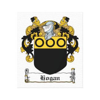 Escudo de la familia del Hogan Impresión En Lienzo Estirada