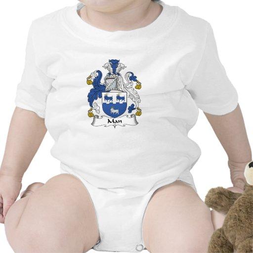 Escudo de la familia del hombre camisetas