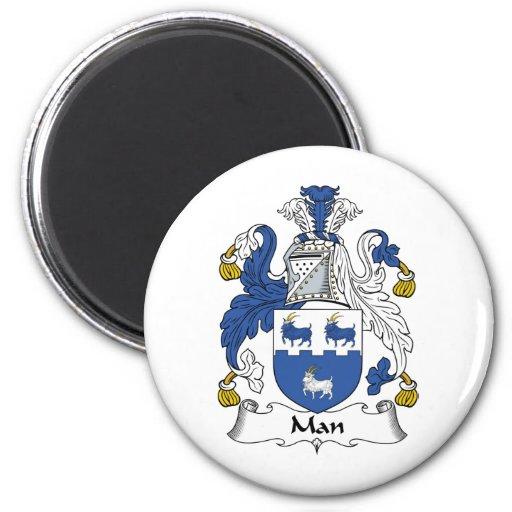 Escudo de la familia del hombre imán para frigorífico