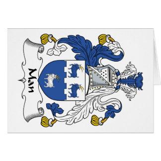 Escudo de la familia del hombre tarjeta de felicitación