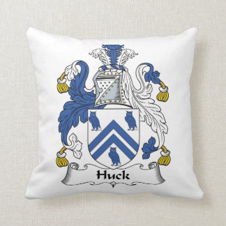 Escudo de la familia del Huck Cojin