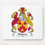 Escudo de la familia del Hudson Alfombrillas De Ratones