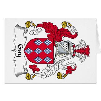 Escudo de la familia del individuo tarjeta de felicitación