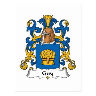 Escudo de la familia del individuo tarjeta postal